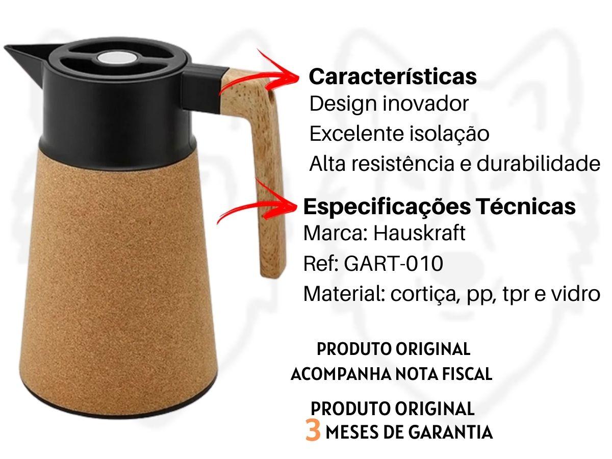 Garrafa Térmica Hauskraft Cortiça GART-010 1 Litro