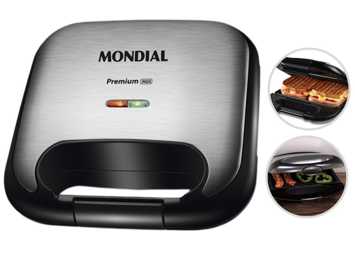 Grill E Sanduicheira Mondial S-25 750w Premium Inox