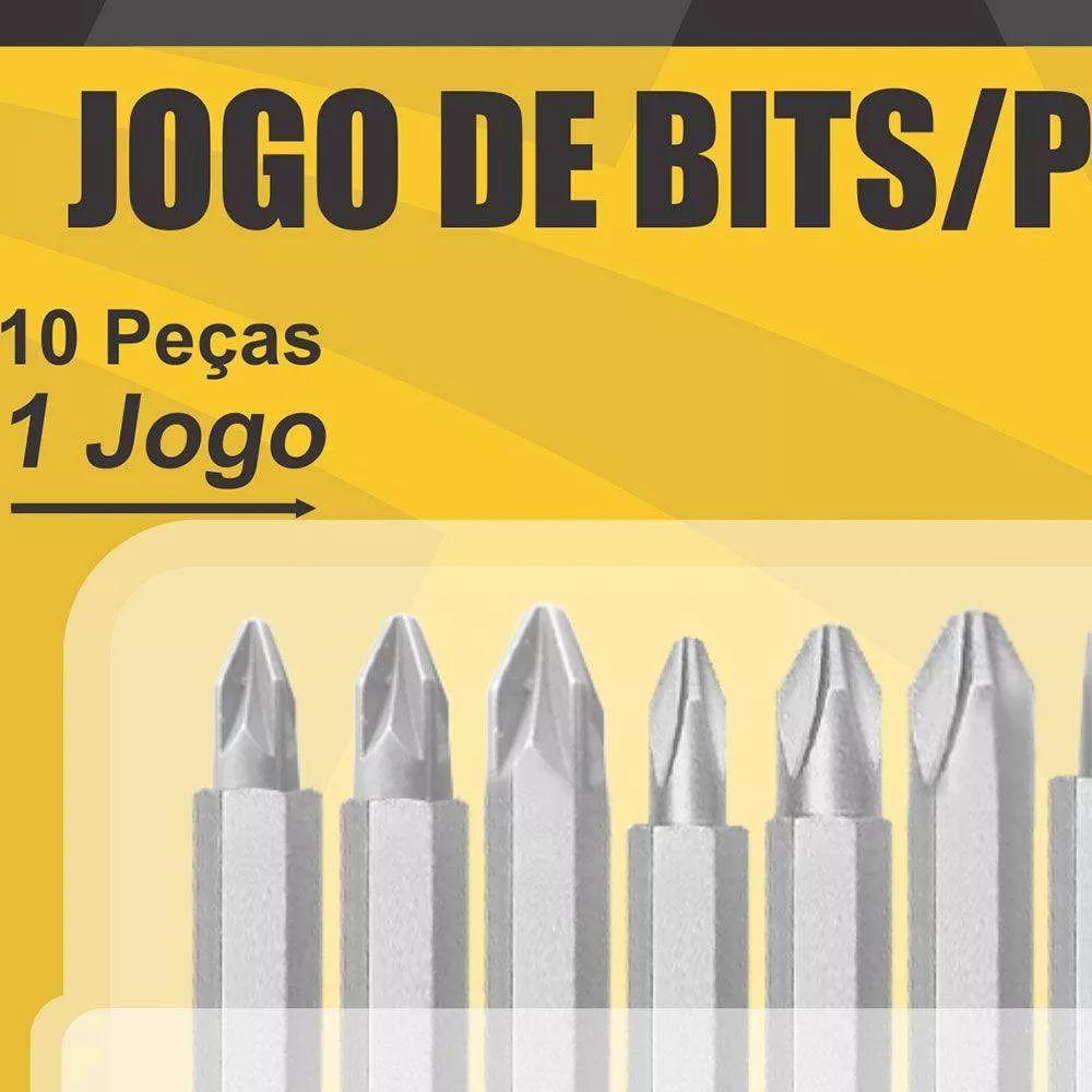 Jogo De Bits Ponteiras Hammer Jb-5000 Cromo Vanádio Pontas Magnéticas