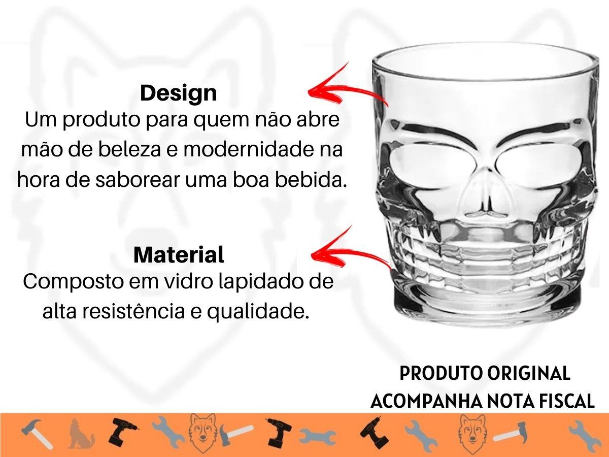 Jogo de Copos Baixo Hauskraft Caveira CPBX-006 6 Peças