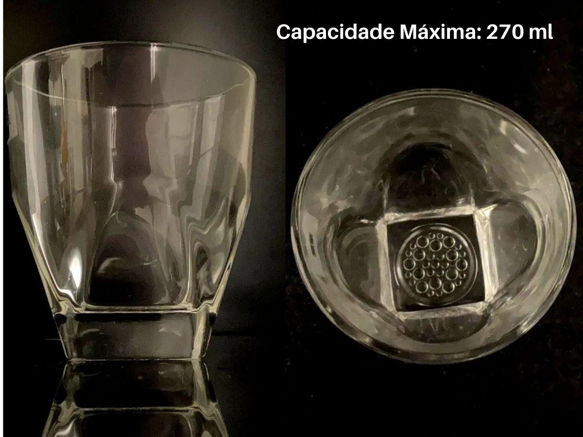 Jogo De Copos Baixo Hauskraft Clear CPBX-002 Vidro 6 Peças