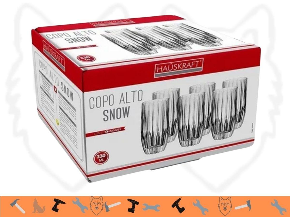 Jogo de Copos Hauskraft Snow CPLG-006 Vidro 330ML