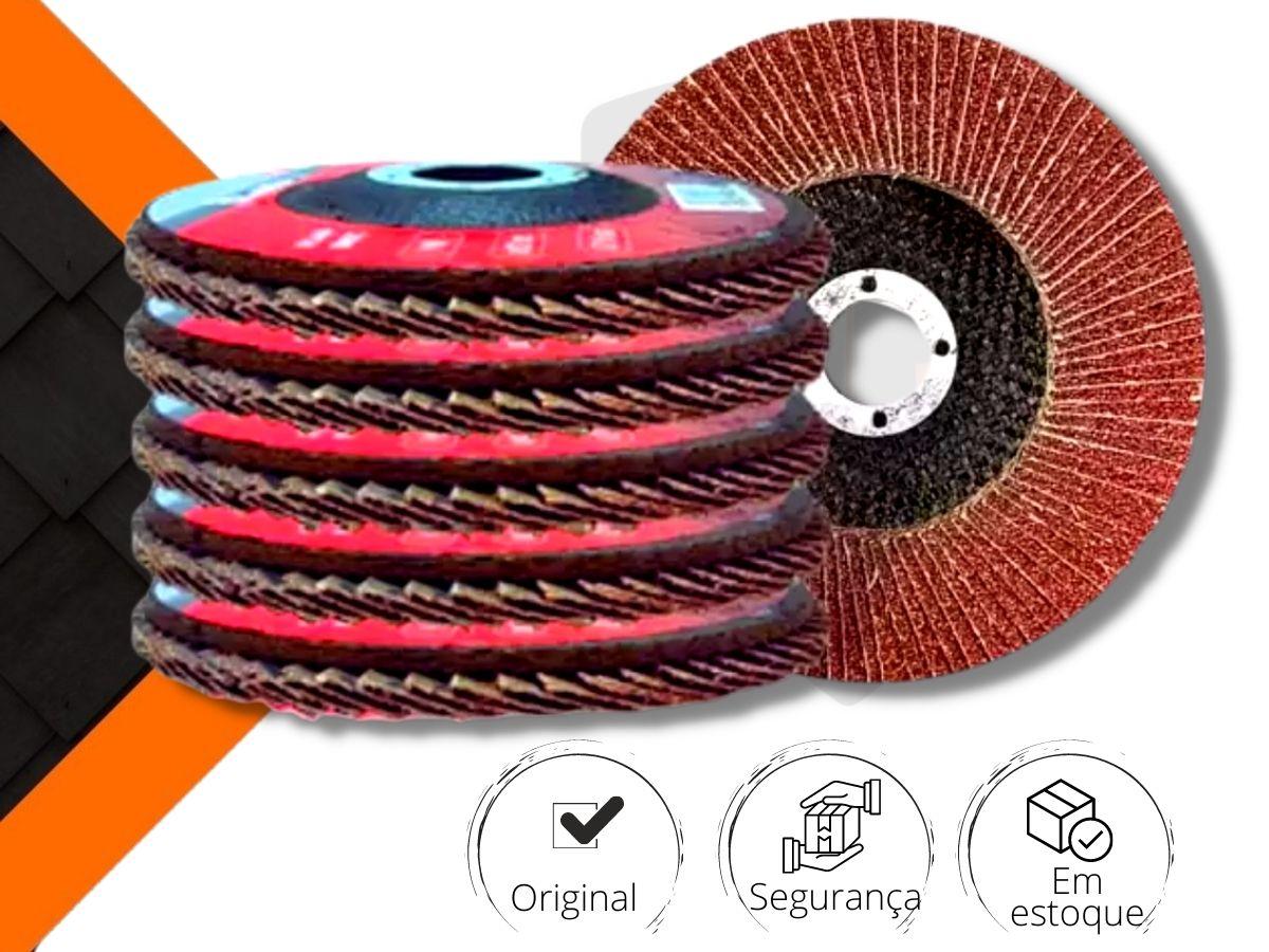 Kit 5 Discos Abrasivo De Lixa Flap Mtx 740299 Grão 80 115mmx22mm