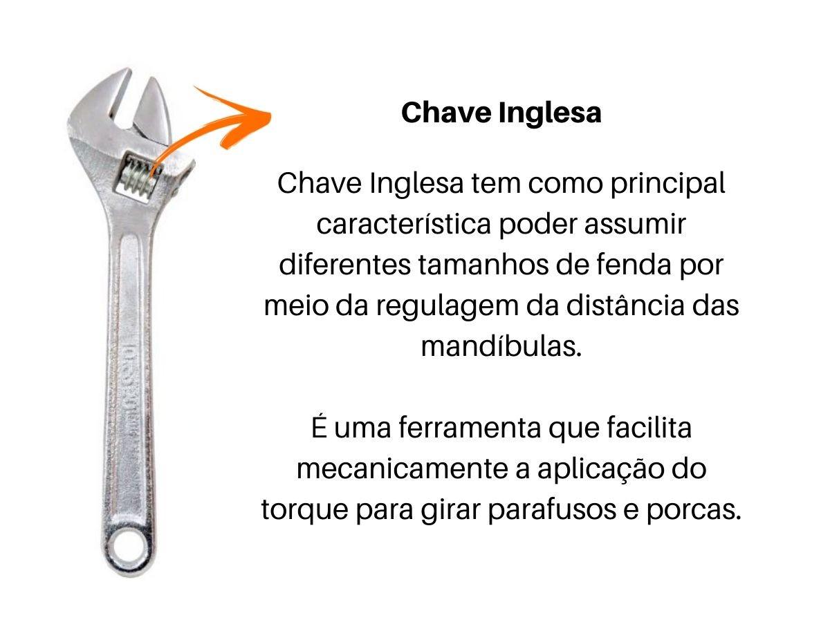 "Kit Alicates Bico V-18 Corte V-28 Universal V-8 Pressão V-10 e Chave Inglesa 12"""
