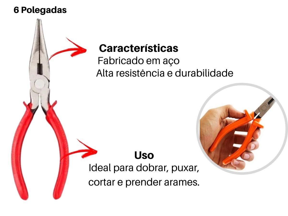 "Kit Alicates Universal V-8 Bico V-18 Corte V-28  C/ Bomba D'Água 8BF Pressão V-10 e Chave Inglesa 12"""