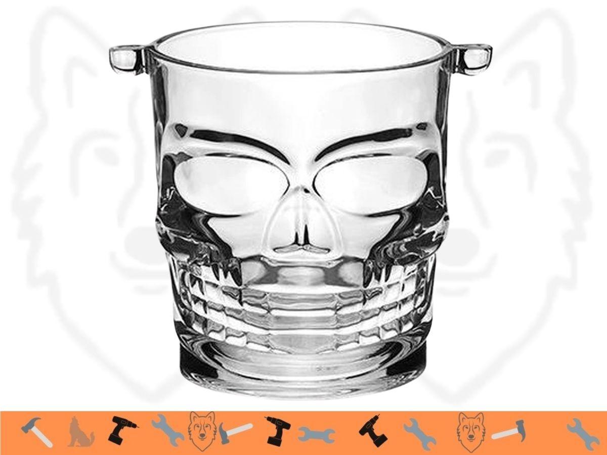 Kit Bar Whisky Copos CANC-460 e Balde De Gelo BGLO-004 Caveira Hauskraft