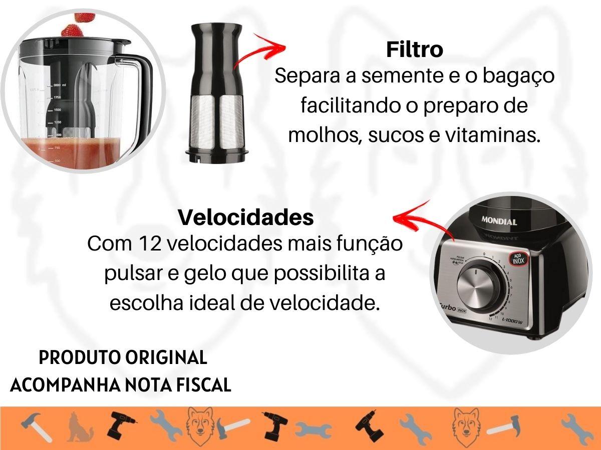 Kit Cozinha Batedeira Elétrica B-44 + Liquidificador L-1000 Turbo