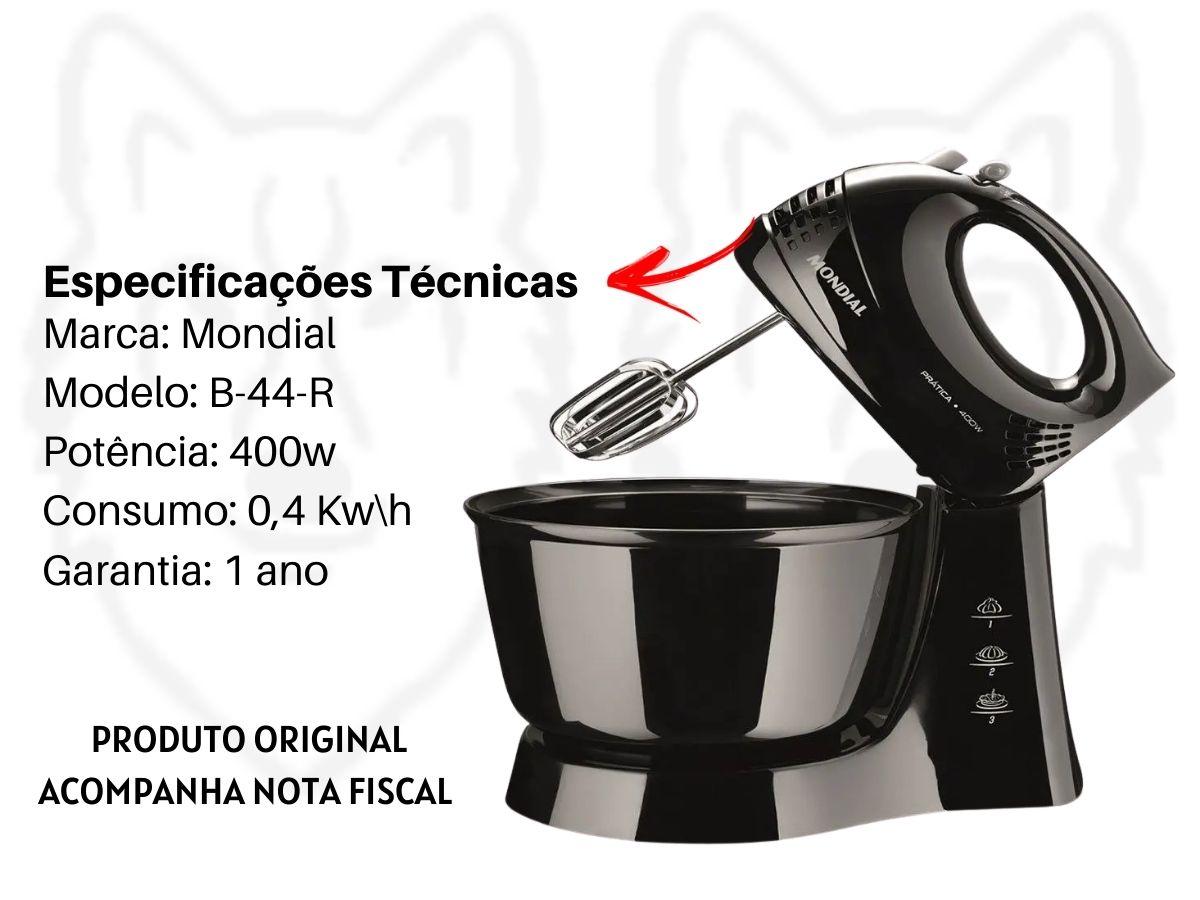 Kit Cozinha Batedeira Elétrica B-44 + Liquidificador L-1200 Turbo