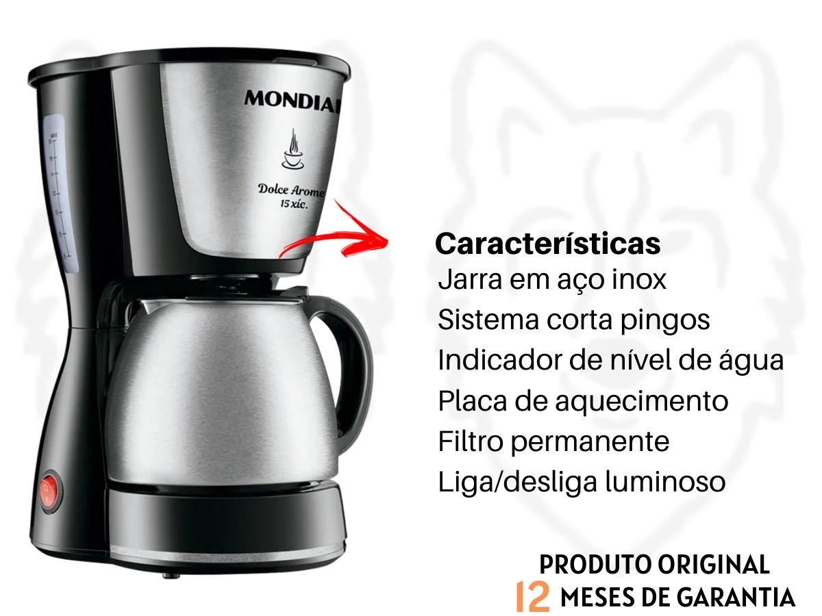 Kit Cozinha Grill E Sanduicheira Mondial S-12 + Cafeteira Elétrica Mondial C-34