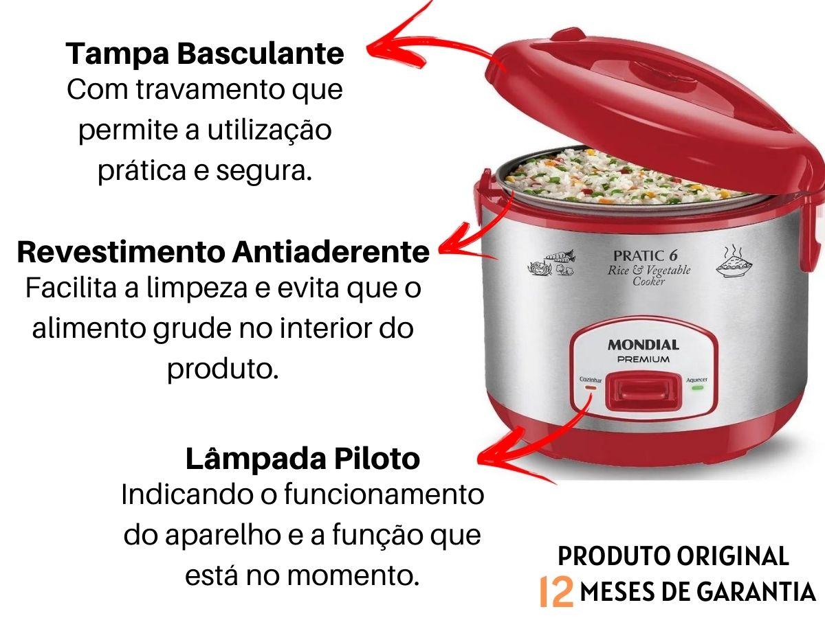 Kit Cozinha Liquidificador Mondial L-74 900w + Panela Elétrica Mondial Pe-35 6 Xícaras
