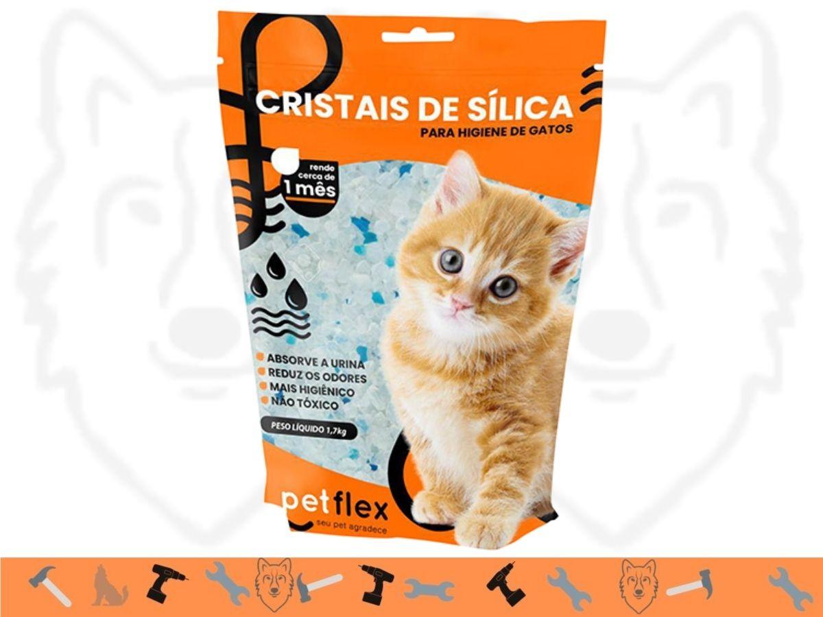 Kit 6 Unidades Cristais De Sílica Para Gatos Pet Flex FXP-2005 1,5 Kg