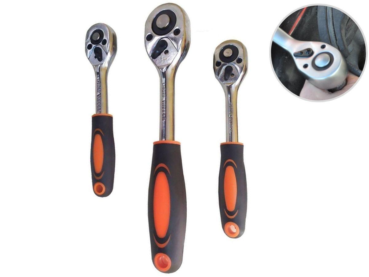 Kit De Chaves Catraca Reversíveis P/ Soquetes Idea 4776H 3 Peças