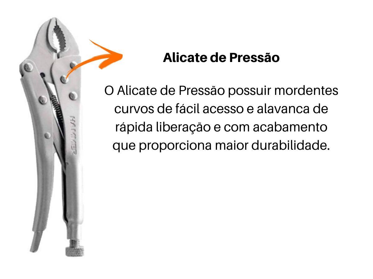 """Kit De Ferramentas Chave Inglesa 12"""" Chave Grifo 10"""" Alicate Pressão V-10"""