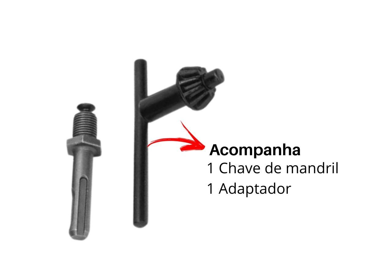 Kit De Mandril 13mm Para Furadeira Saint F-174 3 Peças