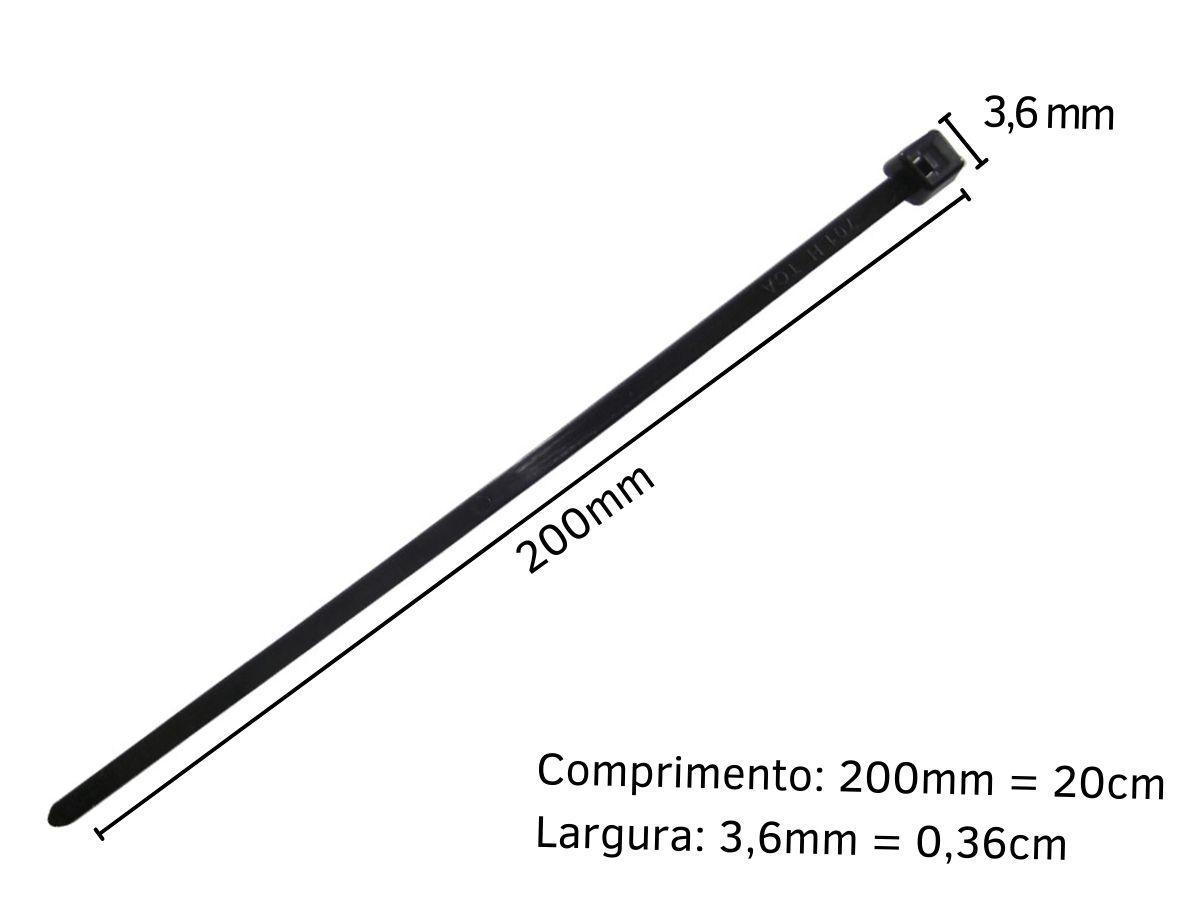 Kit Enforca Gato Abraçadeira De Nylon 3,6mmX200mm Western 100 Peças