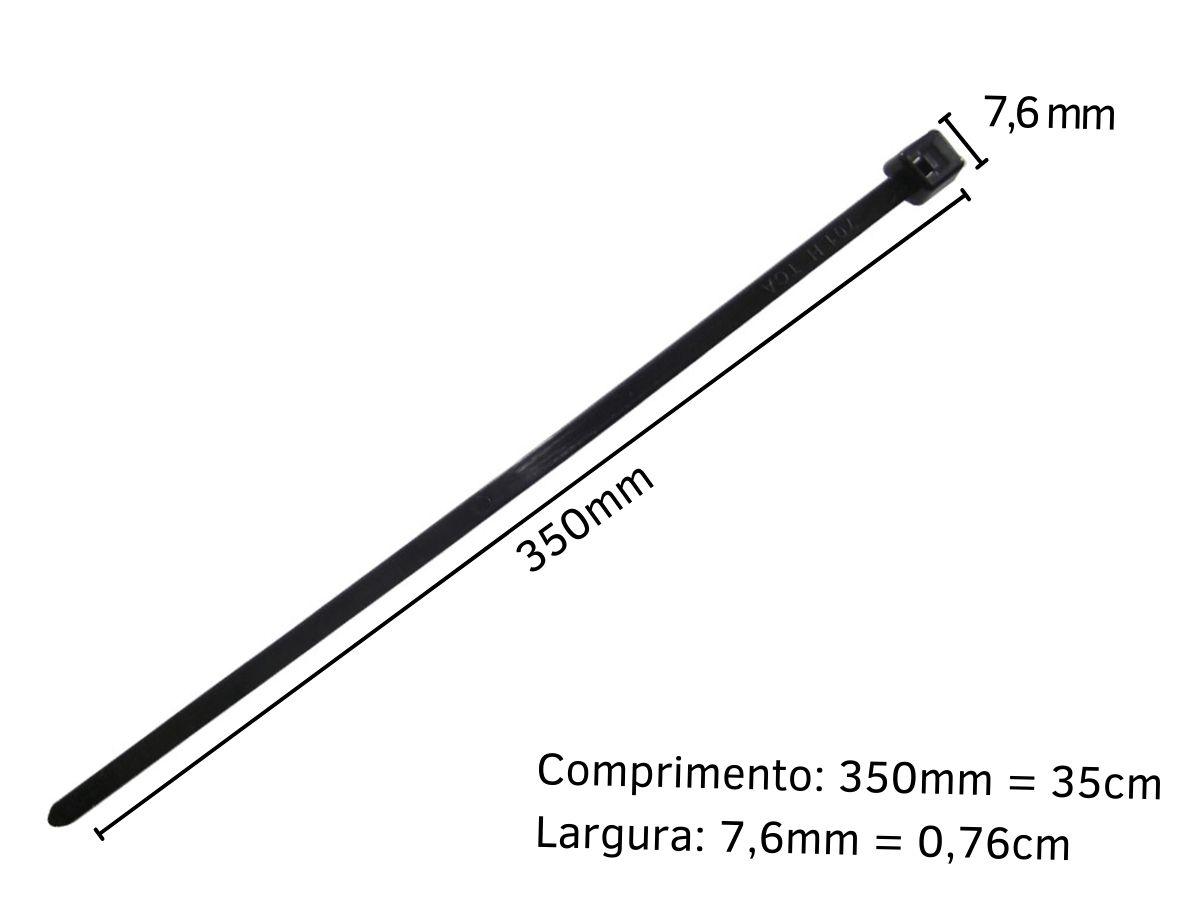 Kit Enforca Gato Abraçadeira De Nylon 7,6mmX350mm Western 100 Peças