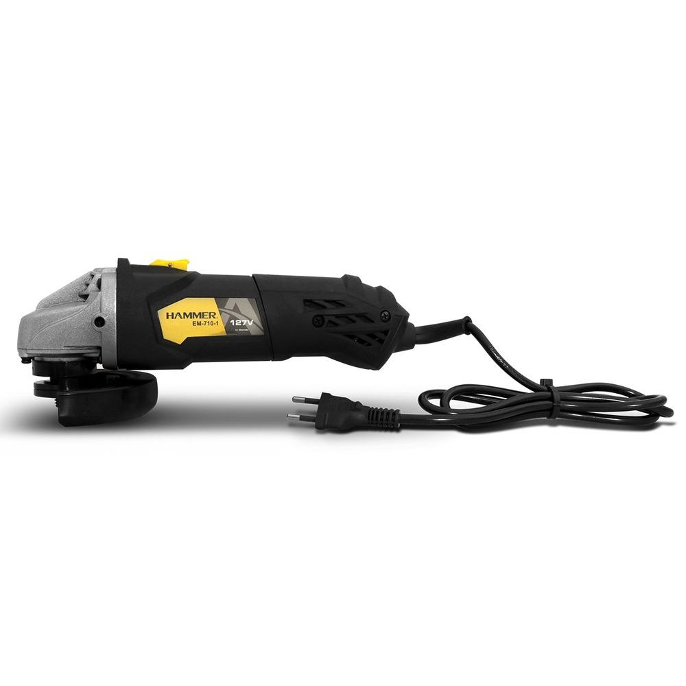 Kit Esmerilhadeira Angular 710w 115mm + Bolsa Porta Ferramentas + 5 Discos De Corte