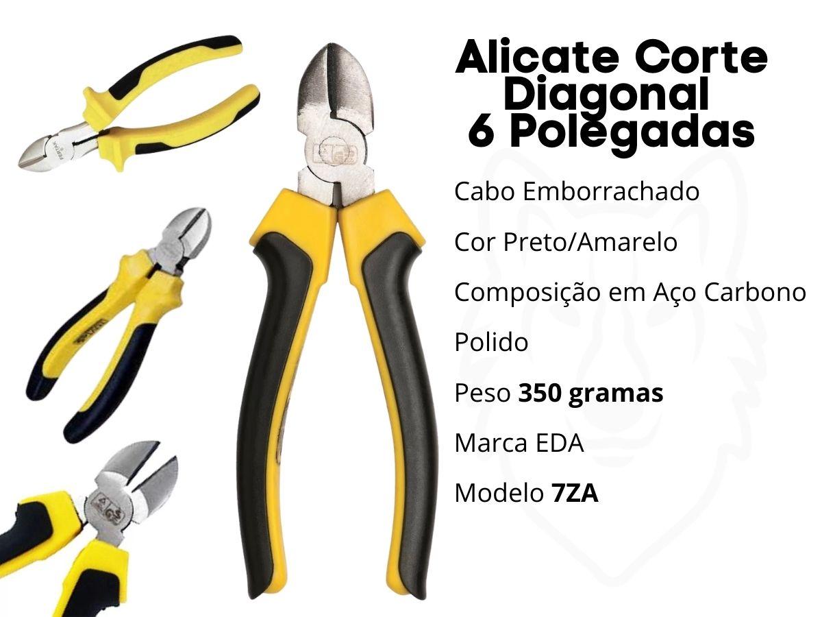Kit Alicates Eda Bico 7ZB Corte 7ZC e Universal 7ZA