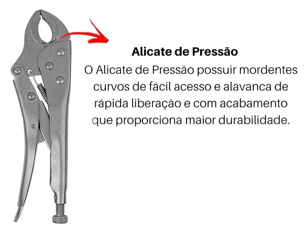 Kit Ferramentas Manuais Chave Inglesa 10 Pol. + Alicate de Pressão  V-10 10 Pol.Western
