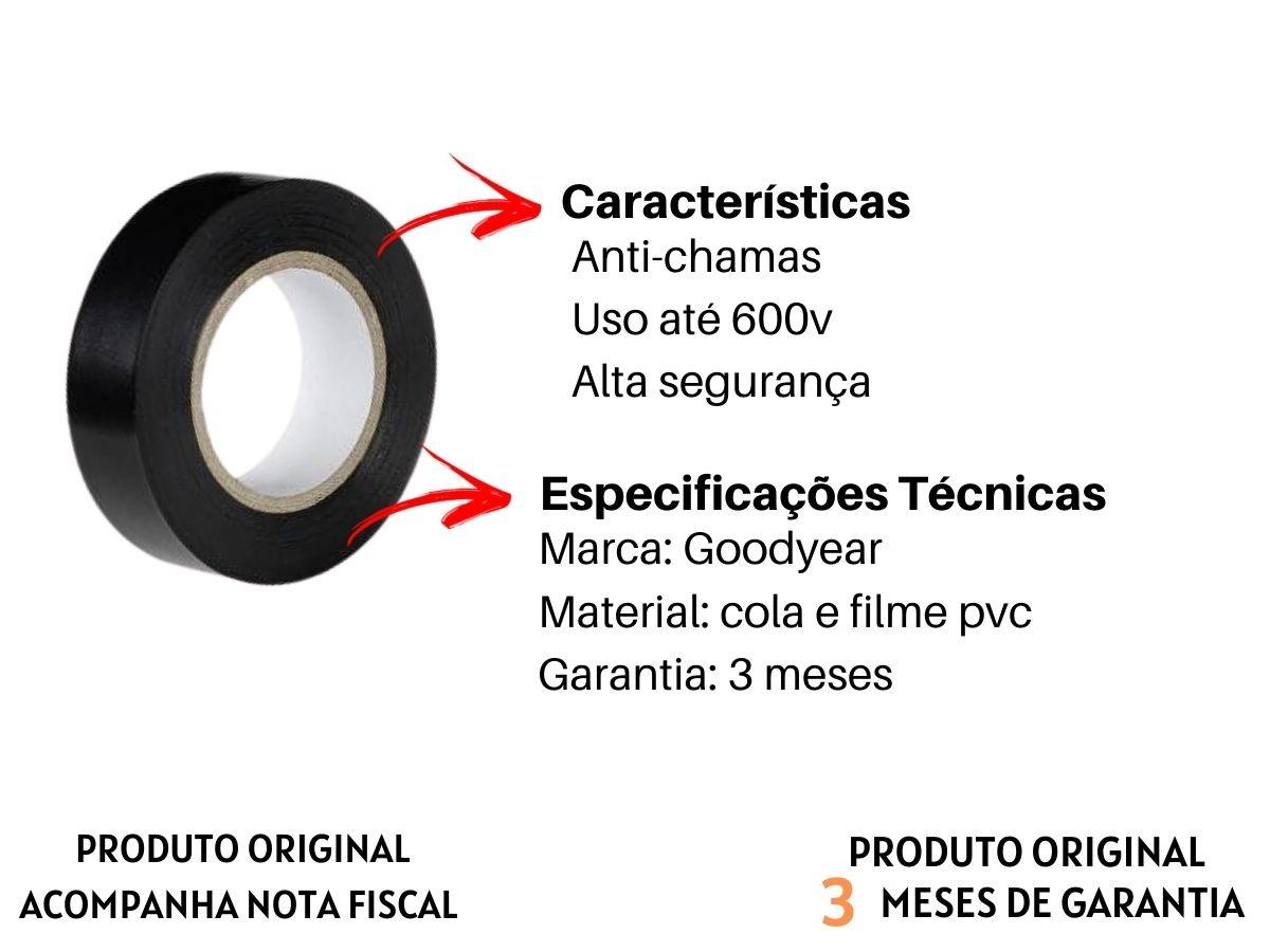 Kit Fitas Isolantes Goodyear GY-ET-5003 20M 10 Peças