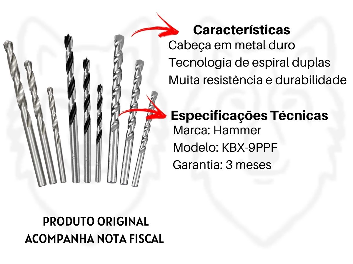 Kit Furadeira De Impacto 600w 10mm + Maleta De Ferramentas 134 Peças + Jogo De Brocas Mistas 9 Peças