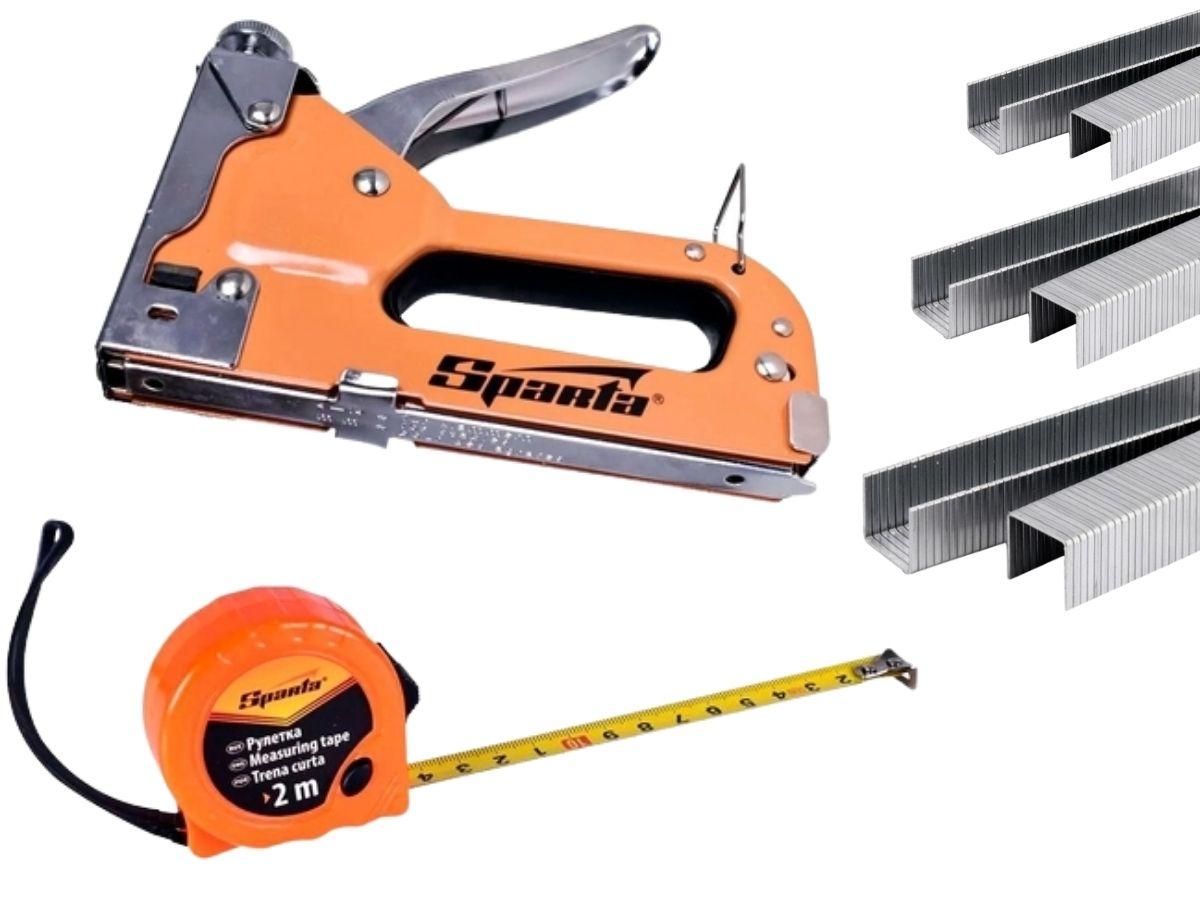 Kit Grampeador Manual Sparta 4200355 Com Maleta E 500 Grampos