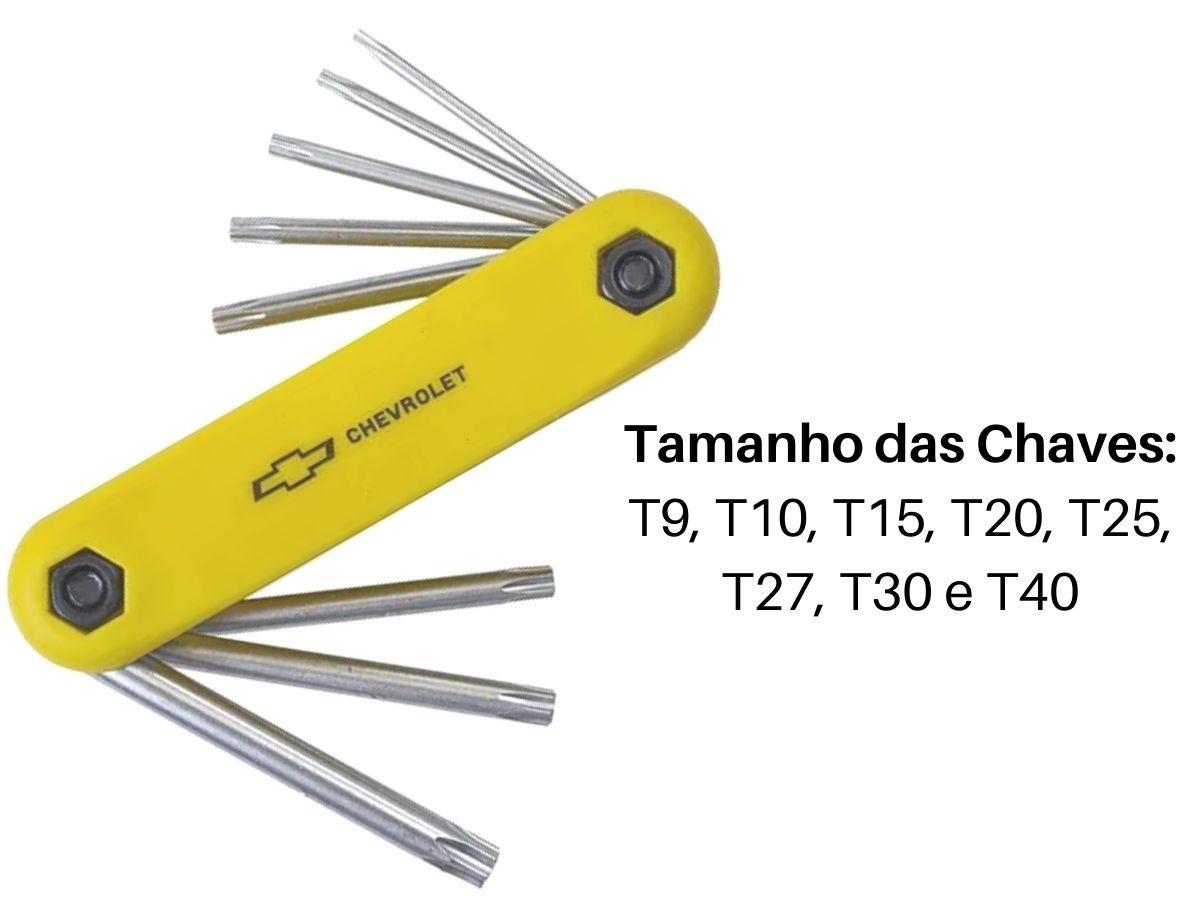 Kit Jogo De Chave Torx Chevrolet Gm-5101 Tipo Canivete 8 Peças