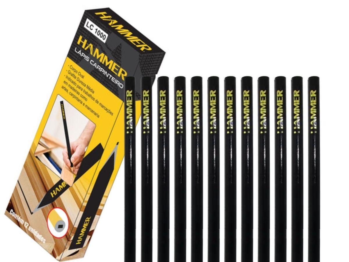Kit Lápis Para Carpinteiro Hammer LC-1000 12 Peças