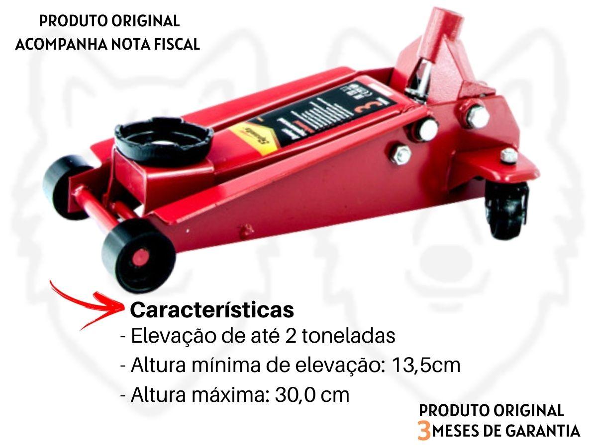 Kit Macaco Hidráulico Jacaré 2T Sparta + Kit Soquete 40 Peças