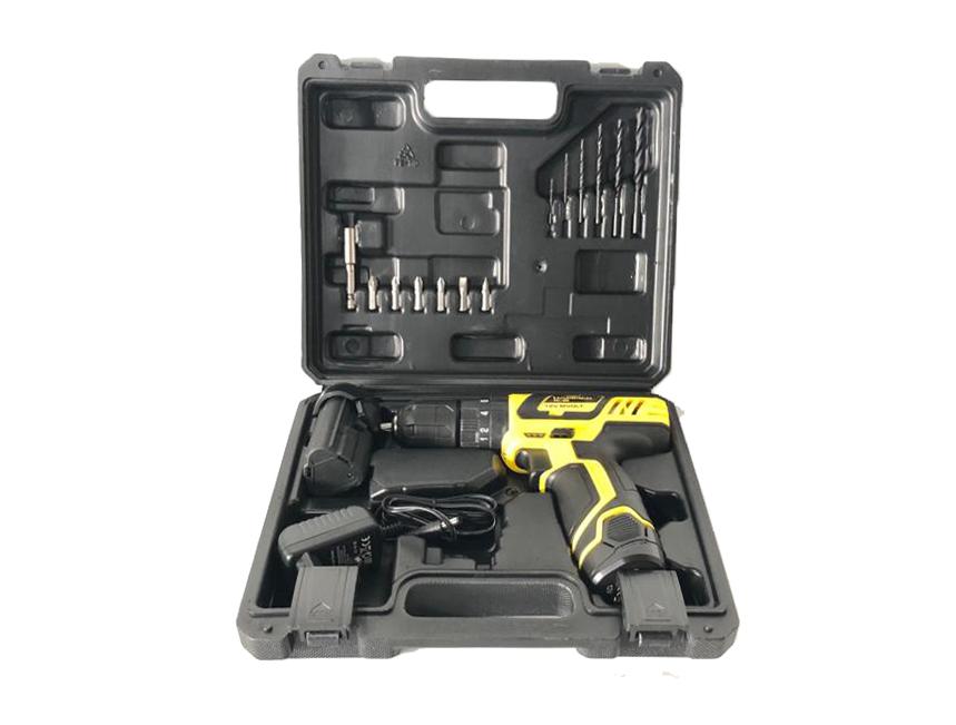 Kit Parafusadeira Furadeira 12v C/ Impacto 10mm + Maleta De Ferramentas 134 Peças + Extensor Flexível Magnético