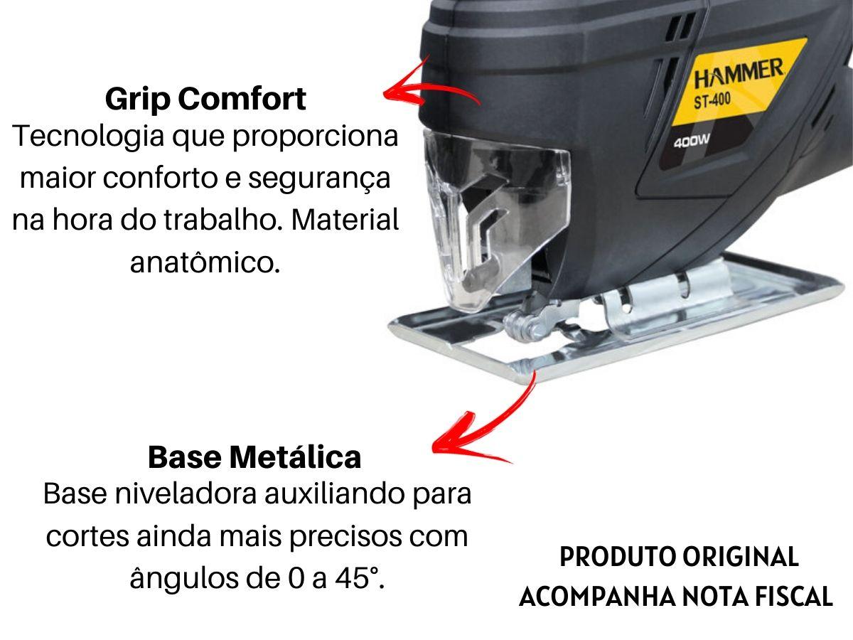 Kit Serra Tico Tico 400w + Jogo De Lâminas 5 Peças + Maleta De Ferramentas 134 Peças