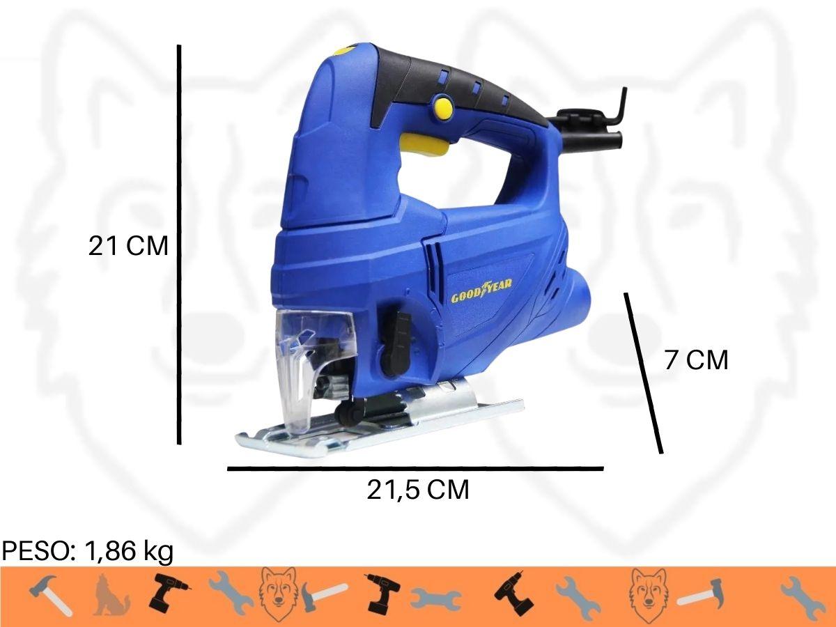 Kit Serra Tico Tico 600w C/ Velocidade Variável + 5 Lâminas + Bolsa Porta Ferramentas