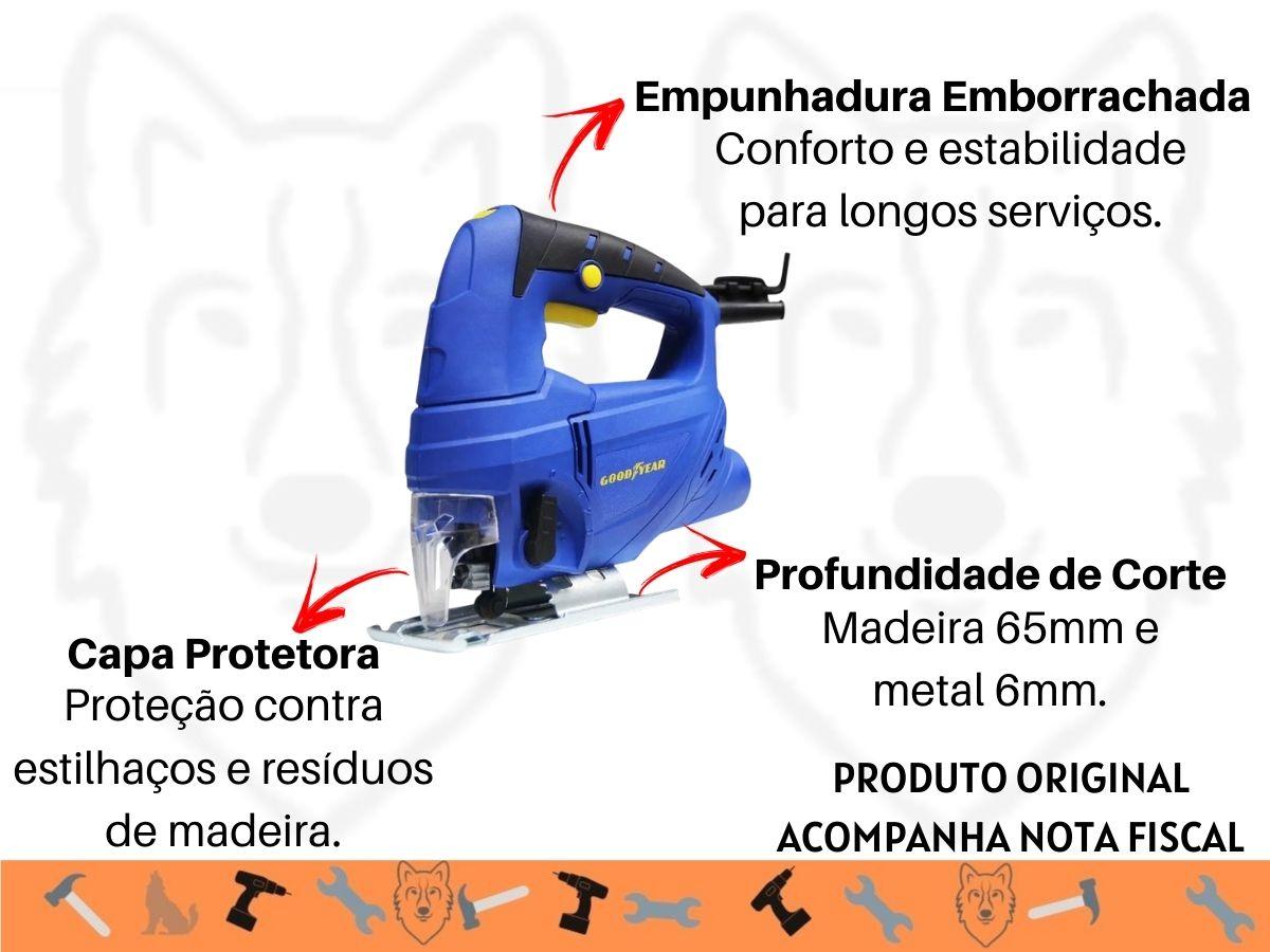 Kit Serra Tico Tico 600w C/ Velocidade Variável + Jogo De Lâminas 5 Peças + Soquetes 40 Peças