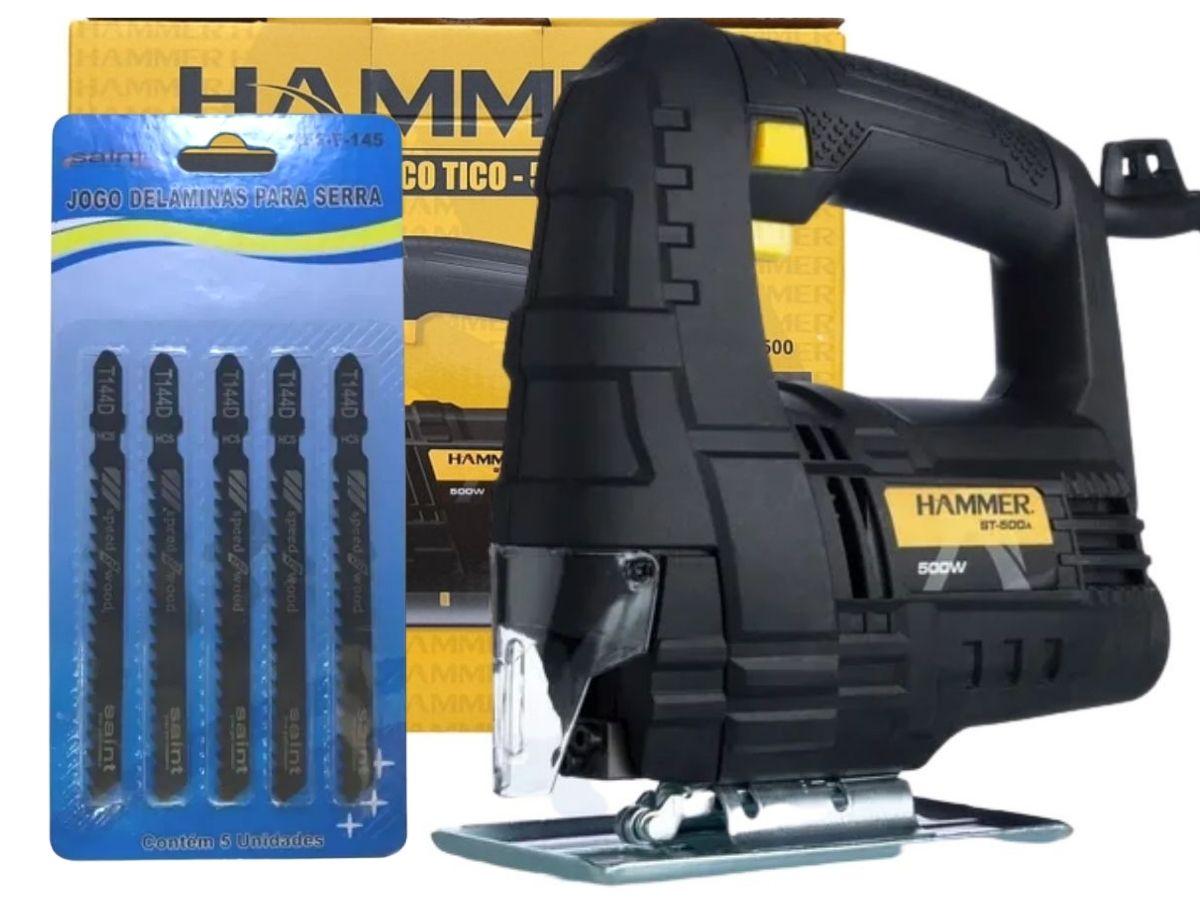 Kit Serra Tico Tico 500w Hammer St-500 + Jogo De Lâminas Saint F-145 Voltagem:127v