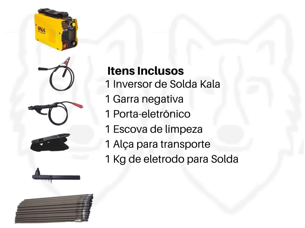 Kit Serralheiro Soldador Máquina Inversora Solda Ksi-130 + Eletrodo 2,5 mm 1Kg