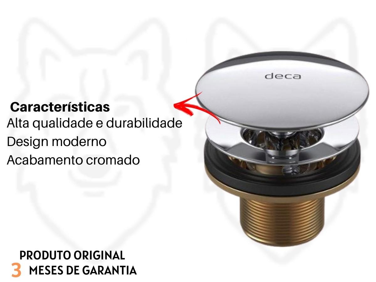 Kit Torneira Automática E Válvula De Escoamento Deca Para Pia Banheiro Lavabo
