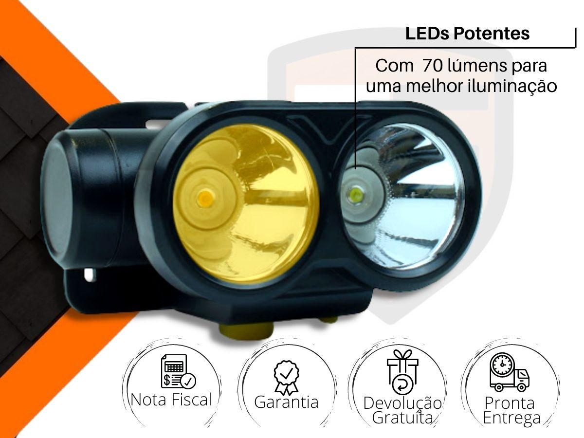Lanterna De Cabeça Ajustável 2 Leds Nsbao Yg-5202 Recarregável