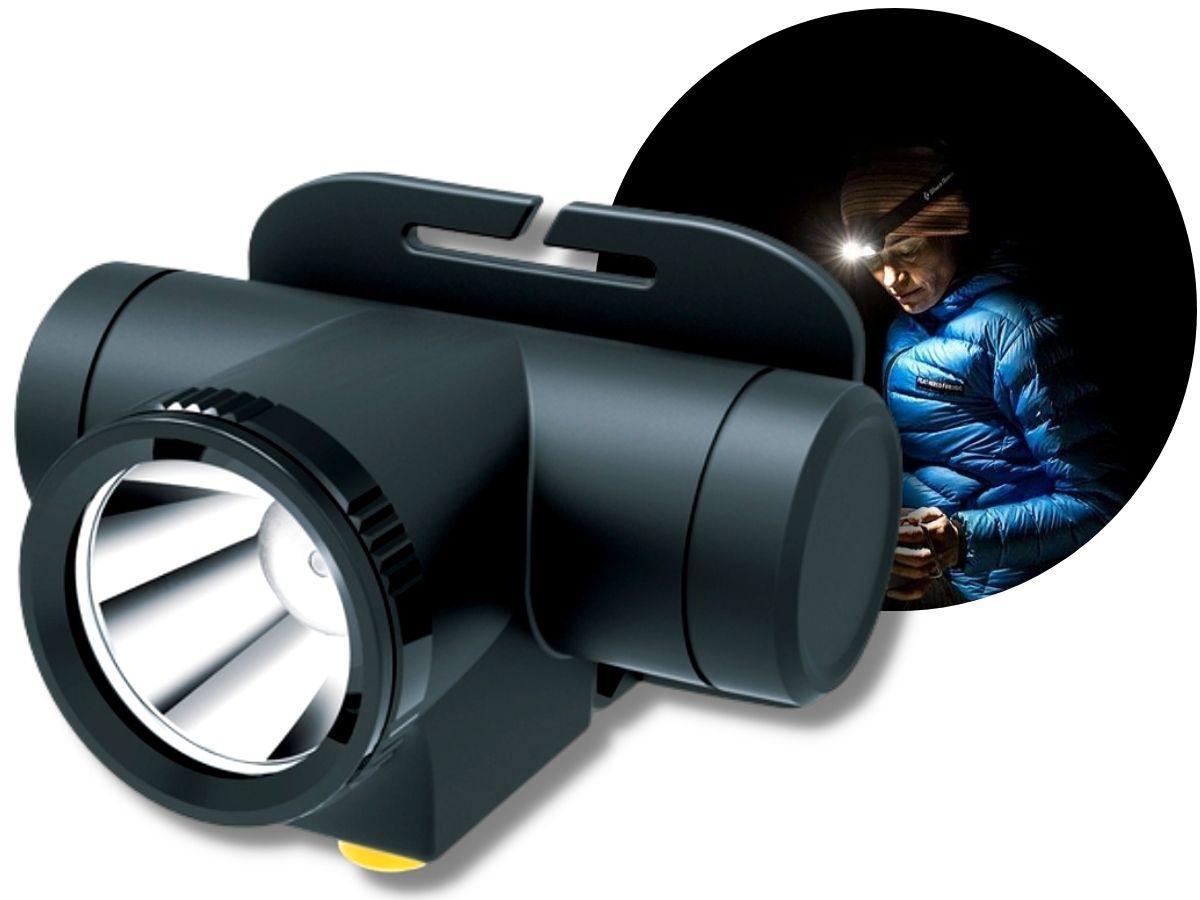 Lanterna De Cabeça De Led Nsbao Yg-5201 Recarregável Usb