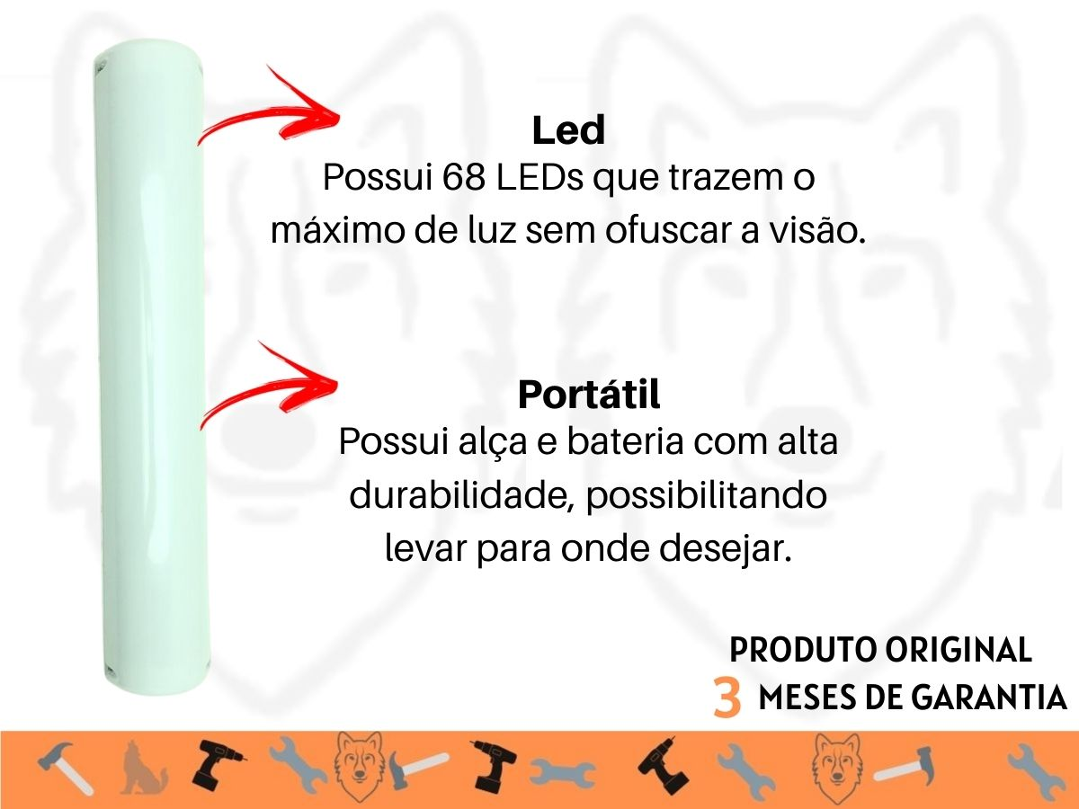 Lanterna De Emergência Idea 9938L 68 Leds