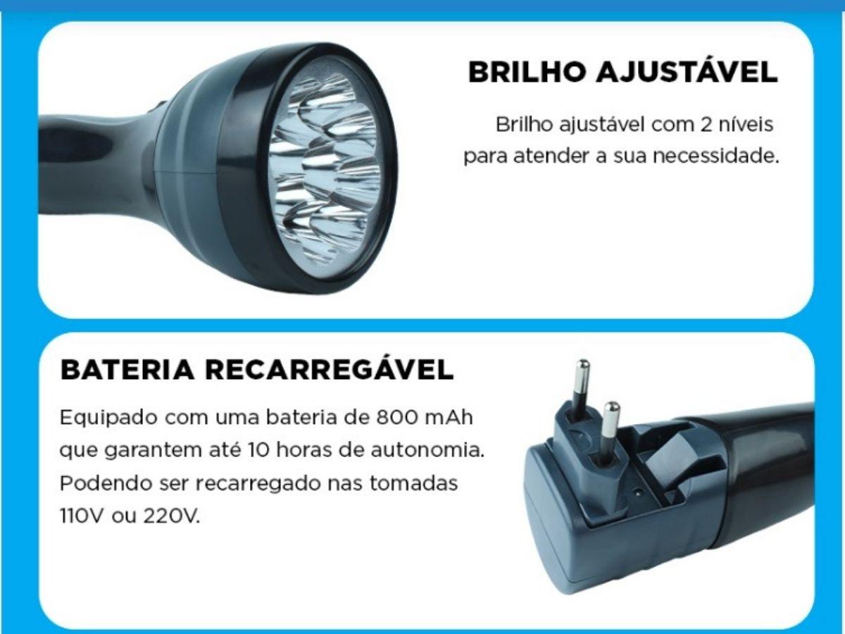 Lanterna De Led Portátil 9 Leds NSBAO YG-3229
