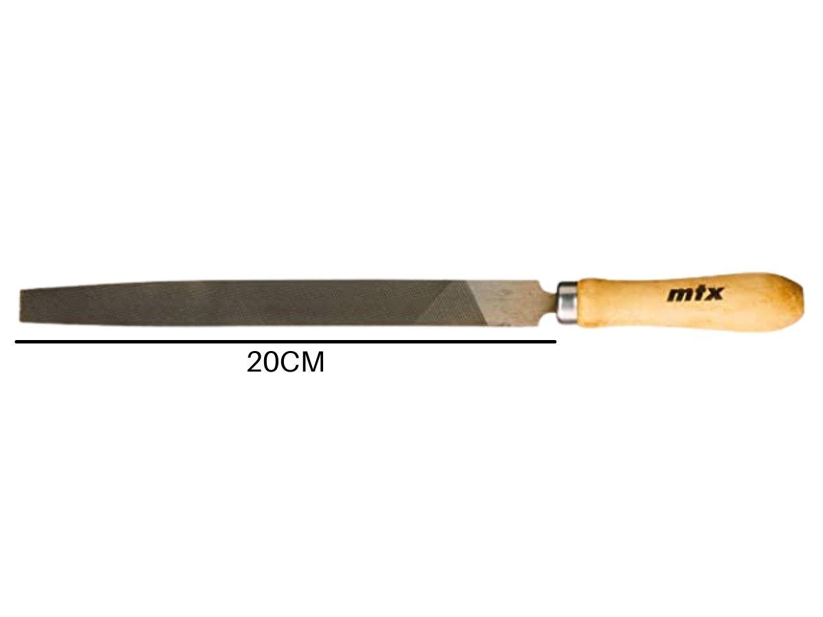 Lima Chata Bastarda 8 Pol. 200mm Mtx 1623555 Com Cabo De Madeira