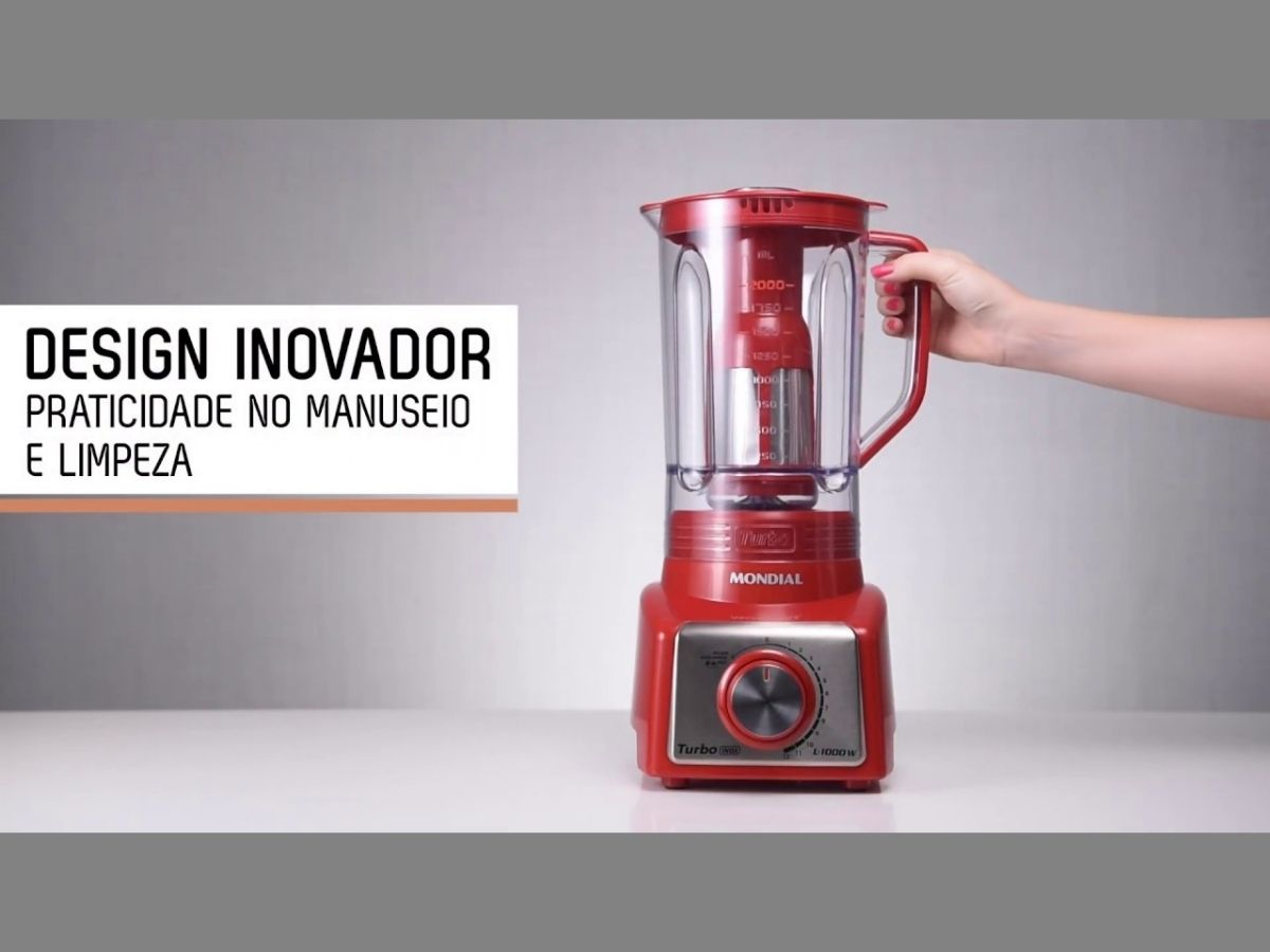 Liquidificador Mondial L-1200-Ri 1200w Turbo 12 Velocidades