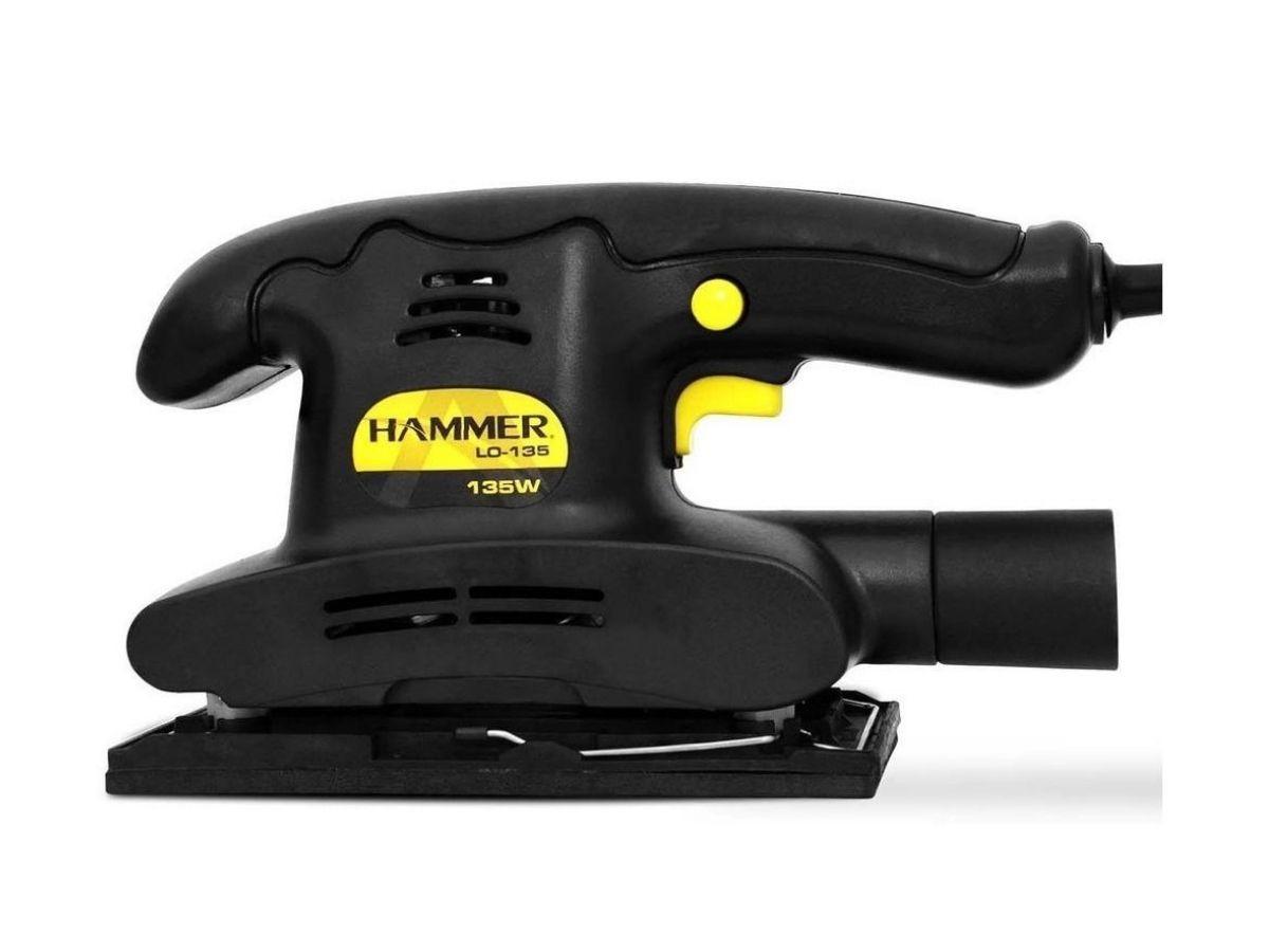 Lixadeira Orbital 135w Hammer Lo-135 1/3 De Lixa