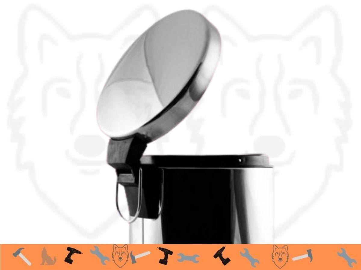 Lixeira de Inox Home Flex FXH-301 3 Litros Com Alça e Cesto