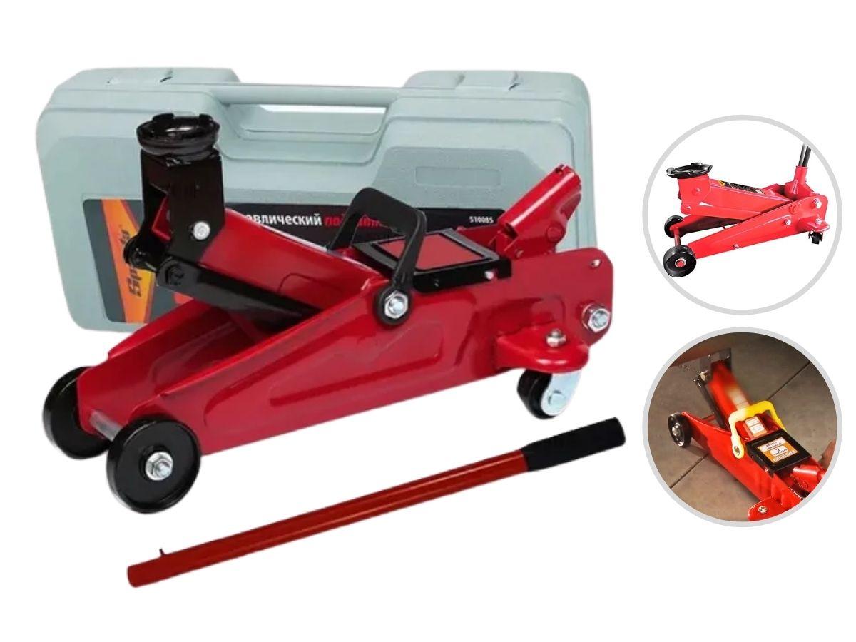 Macaco Hidraulico Jacaré 2T Sparta + Kit Soquete 40 Peças + Chave de Roda e Luva