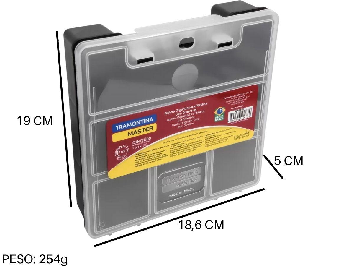"""Maleta Organizadora Com Divisórias Tramontina 43804/001 C/ 6 Compartimentos 7.1/2"""""""