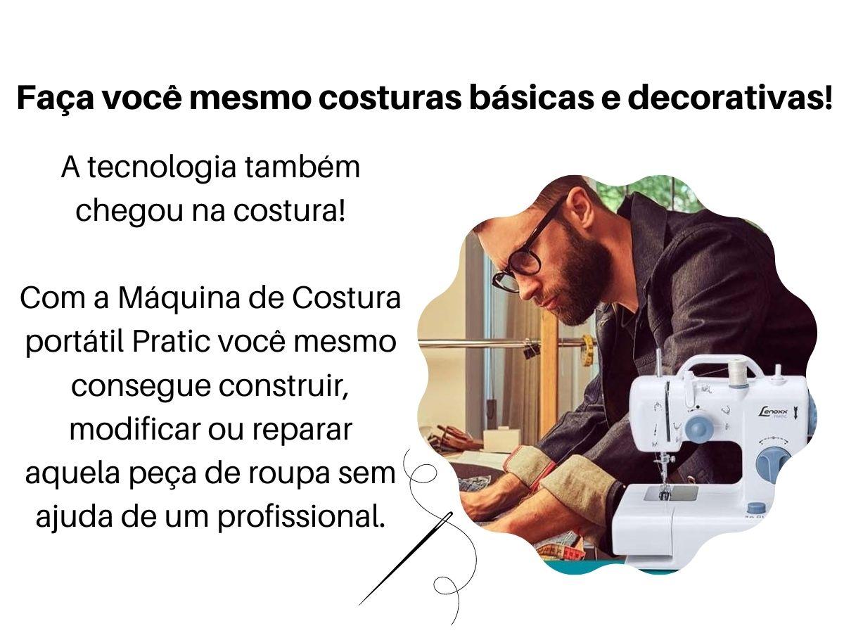 Máquina De Costura Lenoxx Psm-105 Pratic Bivolt