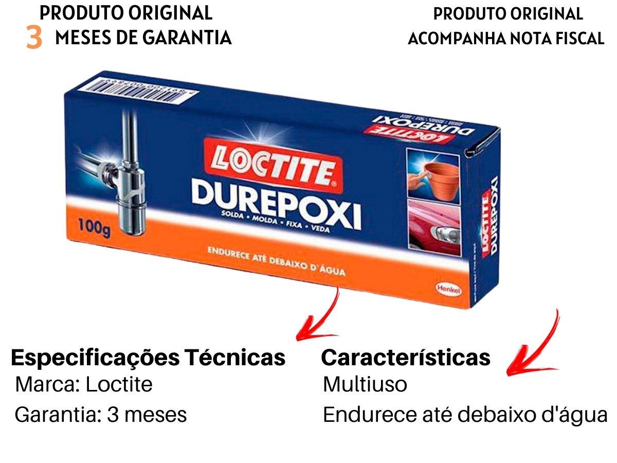 Massa Cola Adesiva Durepoxi Loctite Multiuso 100g 5 Unidades