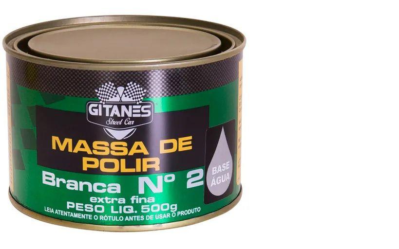 Massa de Polir Branca Nº2 Extra Fina 500g Gitanes