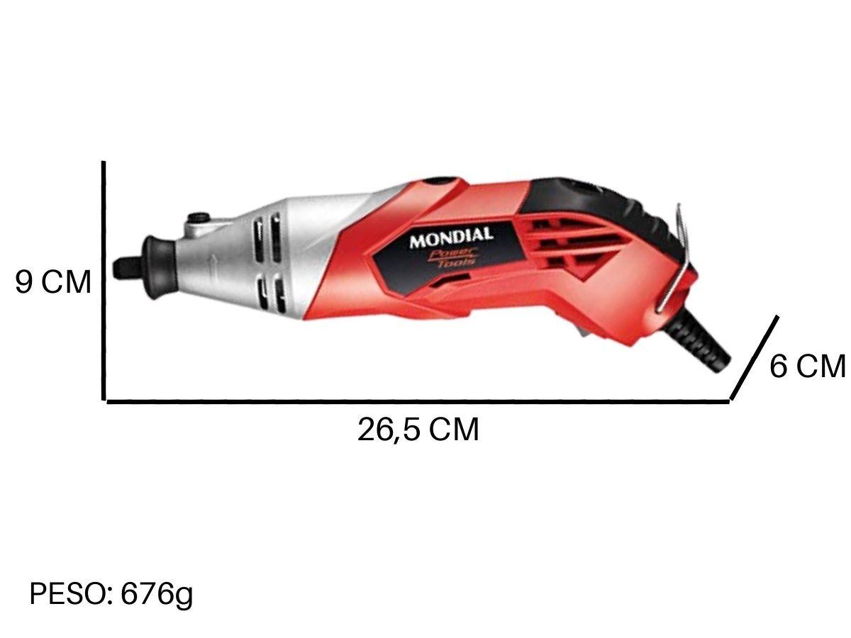 Micro Retífica 170w Mondial Fmr-01-170 Com Maleta e Acessórios